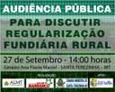 Assembleia Estadual realizará Audiência Pública em Santa Terezinha